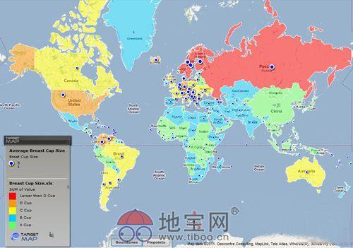 全球罩杯大小分布图图片